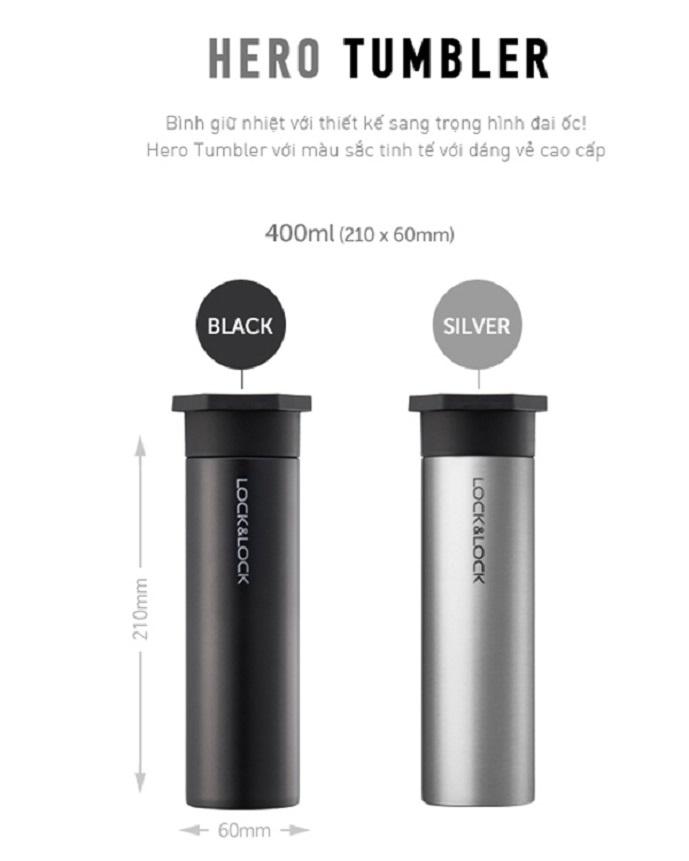 bình giữ nhiệt lock and lock hero tumber 400 ml