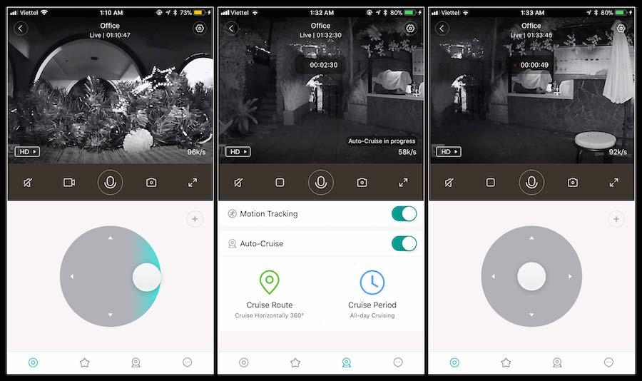 Ứng dụng Yi Dome trên điện thoại
