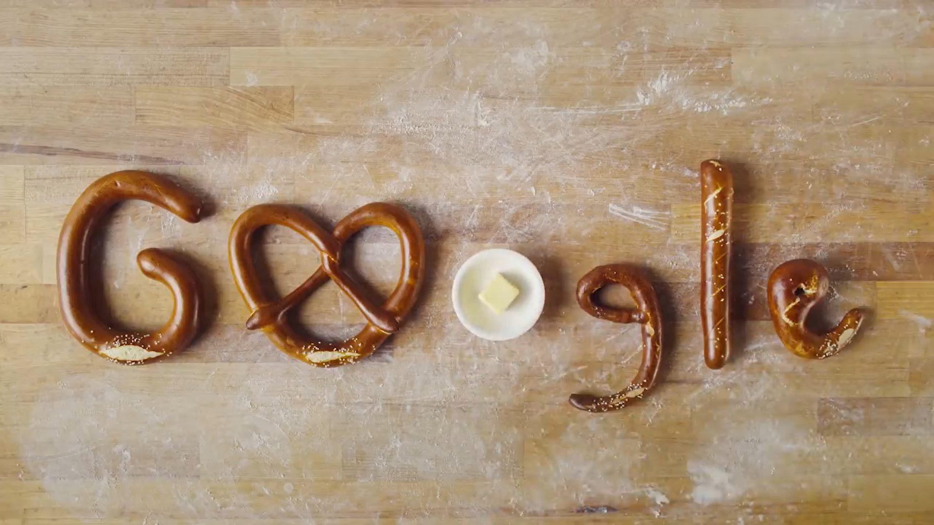 google vinh danh bánh pretzel