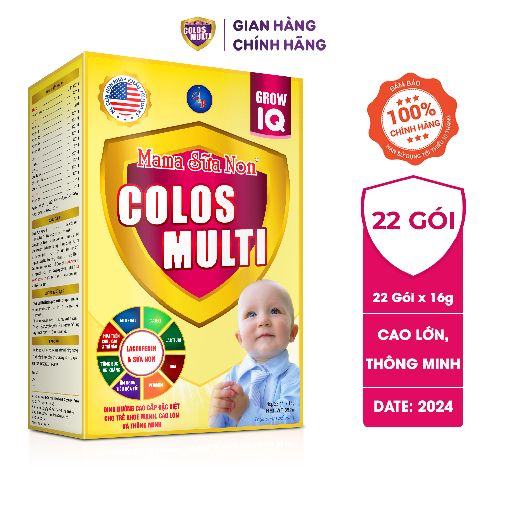 Mama sữa non ColosMulti Grow IQ giúp trẻ cao lớn, khỏe mạnh và thông minh