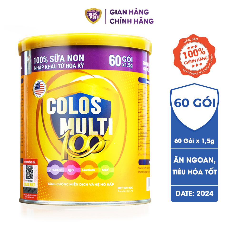 Sữa non ColosMulti 100 và 100 Plus cho trẻ ốm vặt, chậm tăng cân, tiêu hóa kém