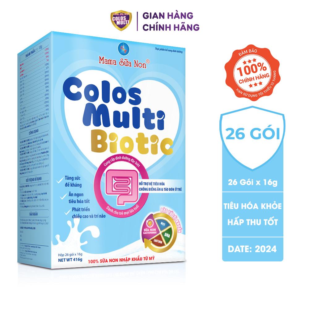 Sữa non Colos Multi Biotic cho trẻ táo bón, tiêu chảy, tiêu hóa kém